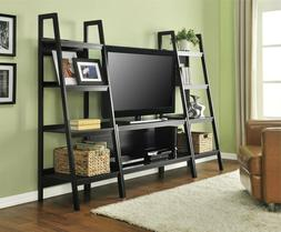 Ladder TV Stand and or 2 Bookcases Open Large Shelves Black