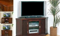 "Leick Home Riley Holliday 46"" Corner TV Stand, Chocolate Che"