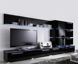 Concept Muebles Liren Contemporary Wall Unit with LED Lights