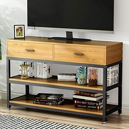 little tree stand entertainment center two drawers solid sto
