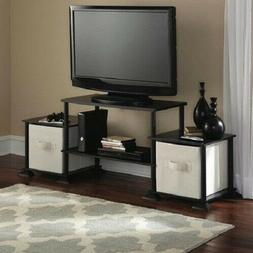 "Mainstays Logan TV Stand For Flat Screen TVs up to 47"" and u"