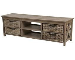 East at Main Lovell Brown Rectangle Mahogany TV Stand,