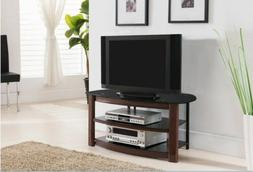 Kings Brand Furniture Metal/Tempered Glass TV Stand with Sto