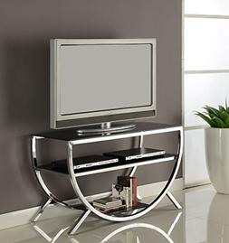 Kings Brand Furniture Metal with Glass Top & Shelves TV