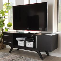 Mid Century Modern Wood Entertainment Unit TV Stand with Ope