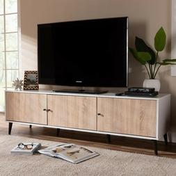 Mid Century Style TV Stand Classic Entertainment Center Medi