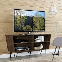 Mid Century Wood 52 Inch Media Console TV Stands with 4 Spac