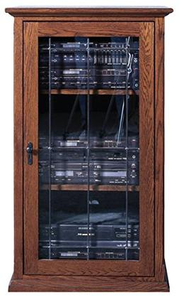 """Forest Designs Mission Audio Tower with Glass Door, 25""""W x 4"""