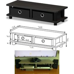 Furinno Modern TV Stand Table Small Wood End Monitor Living