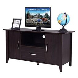TANGKULA Modern TV Stand Wood Multipurpose Home Furniture St
