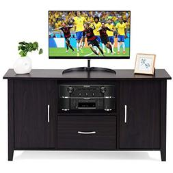 Tangkula Modern TV Stand Wooden Multipurpose Home Furniture