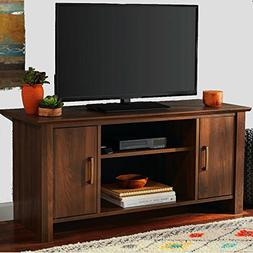 Multi Media Tv Stand with Cabinets and Shelves Adjustable Wa
