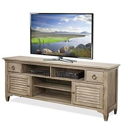 "Riverside Furniture Myra 74"" TV Stand in Natural"