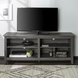 NEW Gray TV Stand Home Entertainment Media Audio Storage Cab