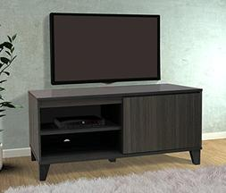 Kings Brand Furniture Oak Grey TV Stand Entertainment Center
