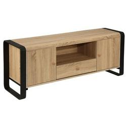 Homegear Oak Living Room Furniture TV Bench Stand Media Ente