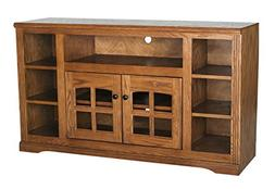 Eagle Oak Ridge Thin Screen Entertainment Console with Bookc