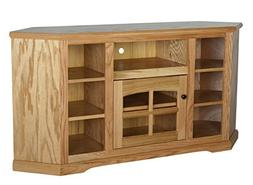Eagle Oak Ridge Thin Corner Entertainment Console with Bookc