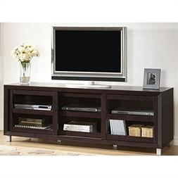 Baxton Studio Pacini Modern TV Stand, Dark Brown