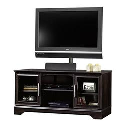 Sauder Panel Tv Stand with Post Mount Estate, Black
