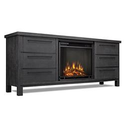 Real Flame Parsons Fireplace TV Stand in Antique Gray