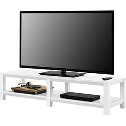 "Mainstays Parsons TV Stand for TVs up to 65"", White"