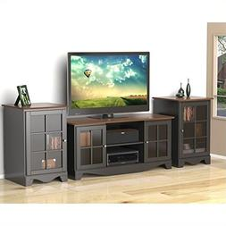 "Nexera Pinnacle 3 Piece 54"" Entertainment Set in Black and C"