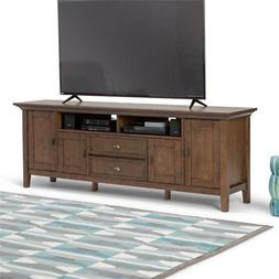 Simpli Home 3AXCADM-07 Redmond Solid Wood 72 inch TV Media S