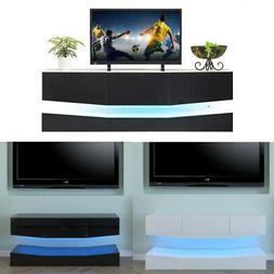 RGB LED Light High Gloss Floating TV Cabinet Stand Entertain