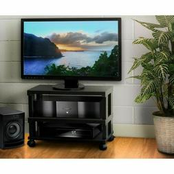 Rolling Tv Stand Mobile Home Entertainment System Center She