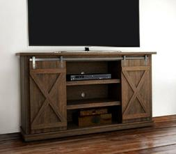 Rustic Barn Door Entertainment Center Living Room TV Stand C