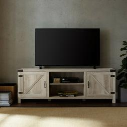 Rustic Entertainment Center Smart 4k HD TV Stand Wood up to