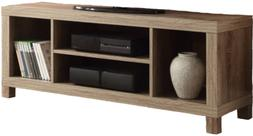 Rustic Oak TV Stand Console For TVs Up To 42 Home Wooden Ent