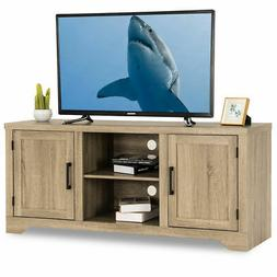 Rustic TV Stand Entertainment Center Farmhouse Console Stora