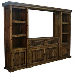 Rustic Western Finca Entertainment Center Real Wood