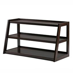 Simpli Home Sawhorse Solid Wood TV Media Stand, Dark Chestnu