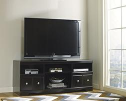 Shay Contemporary Wood Black Large TV Stand