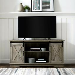 Sliding Barn Door TV Stand Entertainment Center TVs Up To 64
