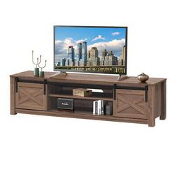 "Sliding Barn Door TV Stand for TV's up to 65"" Storage Shelf"