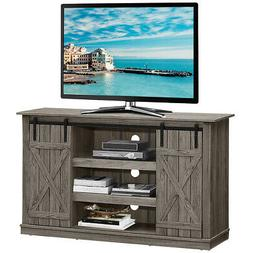 "Sliding Barn TV Stand Console Table for TV's Up to 60"" Enter"