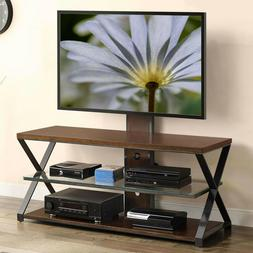 "Stylish Entertainment Center TVs up to 70"" Dual USB Power Po"