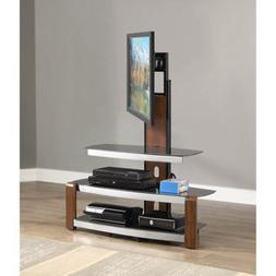 "Swinging TV Stand for TVs up to 47"", Brown Cherry Brown cher"