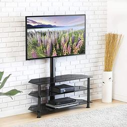 FITUEYES Swivel Floor TV Stand with Mount, Height Adjustable