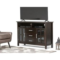 "Atlin Designs 53"" Tall TV Stand in Dark Walnut Brown"