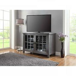 Tall TV Stand Farmhouse Rustic Entertainment Center Cabinet