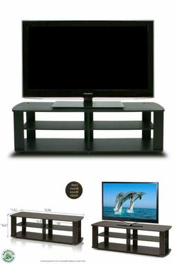 THE Entertainment Center TV Stand Black Furinno 11191BK
