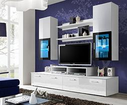 TOLEDO Entertainment Center with multicolor LED system and r