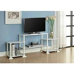 No Tools 3-cube White Storage Entertainment Center for Tvs u