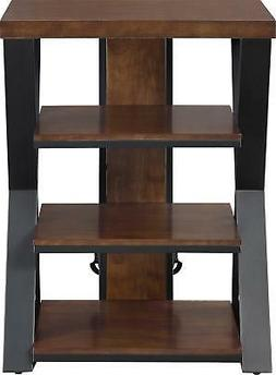 "Whalen Furniture - Tower Stand for TVs Up to 32"" - Medium Br"