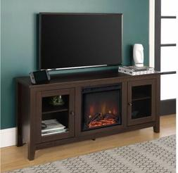We Furniture Traditional Wood Fireplace Stand For Tv's Up